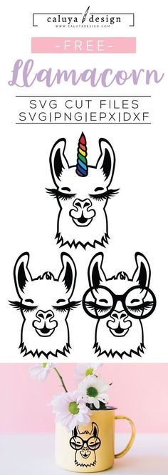 Free Llamacorn SVG, PNG, EPS & DXF by Caluya Design. Compatible with Cameo Silhouette, Cricut and other major cutting machines!Perfect for your DIY projects, Giveaway and personalized gift. Planner Stickers, Vinyle Cricut, Machine Silhouette Portrait, Silhouette Clip Art, Silhouette Design, Free Printable Clip Art, Free Printables, Clip Art Free, Printable Htv