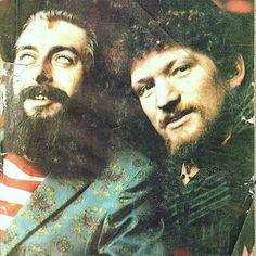 Ronnie Drew and Luke Kelly of The Dubliners. Irish T, Folk Music, Dublin, Insta Like, Celtic, Gentleman, Musicals, Art Ideas, Husband