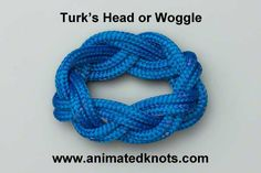 Tutorial on Turk's Head (Woggle) Tying. According to a friend, it would be a nice winter bracelet project, for her, of course!