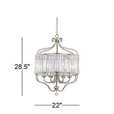 """Stella 22"""" Wide Soft Silver 6-Light Crystal Chandelier - #V6208 