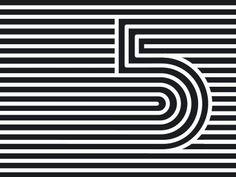 Dribbble - Five by Maksim Arbuzov Crea Design, Type Design, Design Art, Print Design, Logo Design, Cool Typography, Graphic Design Typography, Graphic Design Illustration, Op Art