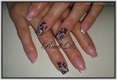 Bluesky gel polish 546, 501 http://radi-d.blogspot.com/2015/04/long-nails-french-with-flowers.html