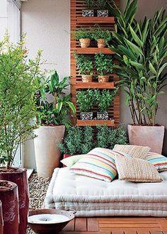 Un mur végétal au coloris naturel