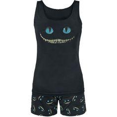 "Walt Disney Pyjama, Women ""Alice im Wunderland - Smile"" black Lazy Day Outfits, Casual Outfits, Lingerie, Cute Pjs, Disney Pajamas, Cute Sleepwear, Pajamas Women, Cat's Pajamas, Comfortable Fashion"