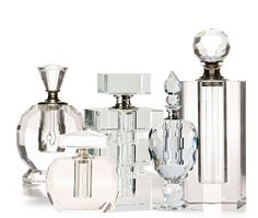 Crystal cut perfume bottles