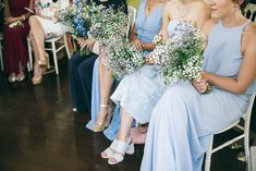 A pretty blue summer Stoke Newington wedding. Bride wears dress by Charlie Brear. Photography by Caro Photo
