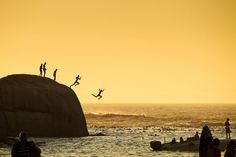 Traveler Photo Contest: Spontaneous Moments Cape Town, South Africa Boys in Clifton Beach in Cape Town jumping into the Atlantic Ocean.
