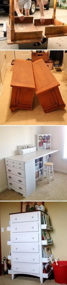 Awesome DIY Projects and Tutorials to Redo Your Old Furniture.