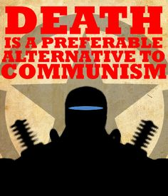 In America, propaganda related to communism always implied that communism is a corrupted, flawed system. During the Cold War it was most common to see anti-communism posters in order to persuade the public to hate all communists.   Credit: /u/The_Bee_Keeper