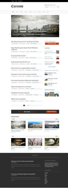 web design, wordpress theme, news page