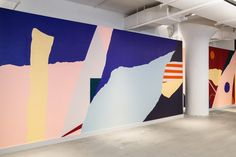 Studio Proba x Aaron Robbs Dropbox Mural NYC HQ