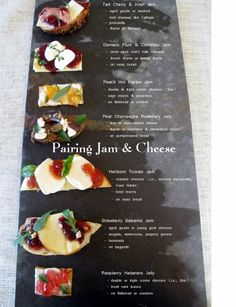 Cheese and Jam Pairing Chart 2013 - from www.farmtojar.com