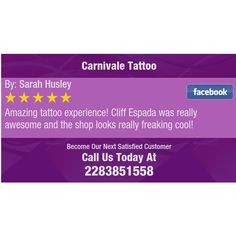 Amazing tattoo experience! Cliff Espada was really awesome and the shop looks really...