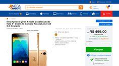 [Mega Mamute] Smartphone Qbex X - Gold Desbloqueado Tela 5 ´ 16GB 3G Câmera Frontal Android 5.0 Dourado - de R$ 624,88 por R$ 387,03 (38%…