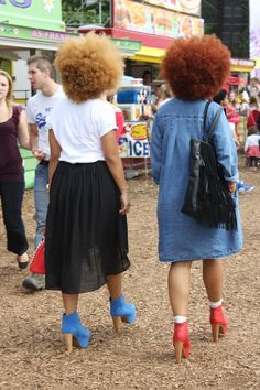 colored fro / via solestruck