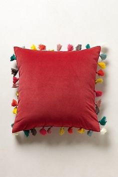 Firenze Velvet Tassel Pillow #anthropologie