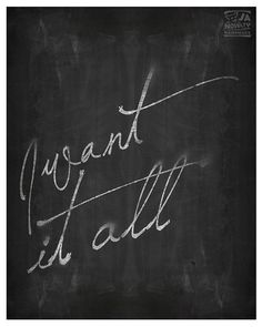 I want it all Motivational poster Inspirational by JAnoveltyDeSign Chalkboard Poster, Extra Large Wall Art, Motivational Posters, Scandinavian Design, Things I Want, Inspirational, Unique Jewelry, Handmade, Etsy
