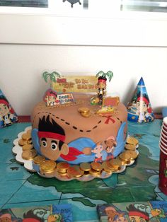 Image result for jake and the neverland pirates birthday cake 18 inch fondant