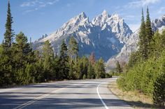 Highway 89 naar Jackson Hole, in Wyoming.