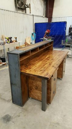 reception desks rustic industrial and industrial on pinterest bury style office desk desks