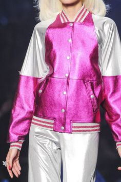 Electric Colorblock Bomber Jacket Trend for Spring Summer 2013.  Jean Paul Gaultier  Spring Summer 2013 #Trendy  #Fashion #Trends