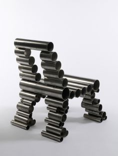 Creative Chairs Made From Recycle Material : Inspiring Chair Created By Iron Tube