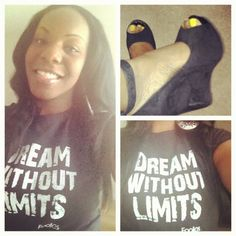 shouts out to the CEO of Shoegasm Miami with her dream without limits shirt!