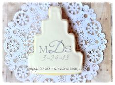 Decorated Wedding Cake Personalized with by TheTailoredCookie