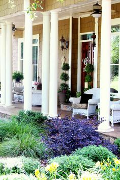 A summer Southern front porch made for sipping sweet tea