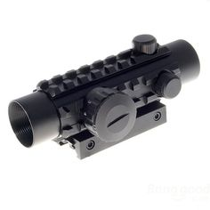 1*30 Reflex Laser Sight Rifle Scope With Red+Green Laser Configurable