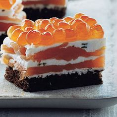 Seven-Layer Salmon Bites! A classic combo refined. From Epicurious on ...