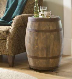 Deep Creek Wine Barrel Storage Table   Accent Tables
