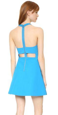 alice + olivia Christie Crew Neck Box Pleat Dress   SHOPBOP