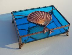 Stained Glass Boxes Jewelry Boxes  Seashell Boxes by KeiberGlass