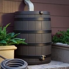 Rainwater barrel - I never need a hose to water my garden; I just use what collects in the rain barrel.