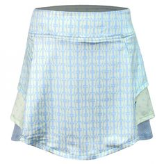 Check out this On The Tee (Green) Turtles & Tees Junior Girls Langdon Tiered Layers Pull On Golf Skort! Buy your junior golf needs online today from Lori's Golf Shoppe!