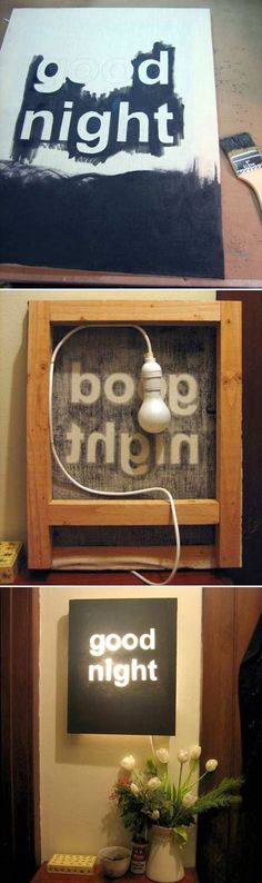 Easy DIY Crafts: DIY Good Night Light