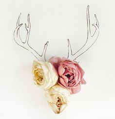 the antler drawing with 3 flowers and Magnolia and flower illustration no. Antler Drawing, Tattoo Fleur, Deer Tattoo, No Rain, Oh Deer, My New Room, Horns, Art Photography, Emotional Photography