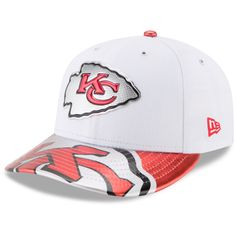 8905b3545a5 Men s Kansas City Chiefs New Era White 2017 NFL Draft On Stage Low Profile  59FIFTY Fitted Hat