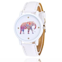 Girl watches elephant clock display white background color leather strap student quartz watch  fashion Female Casual Watches //Price: $76.49 & FREE Shipping // #shopping #glam #bags #style #fashion