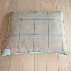 Handmade Dog Bed in Autumnal Check fabric