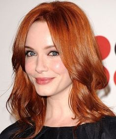 Red Hair with Dark Brown Highlights Photos