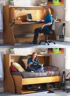 Idea interesante para los espacios pequeños!