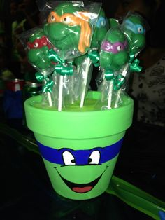 To hold all of their ninja gear Turtle Birthday Parties, Ninja Turtle Birthday, Ninja Turtle Party, Birthday Party Themes, Birthday Ideas, 4th Birthday, Turtles Candy, Ninja Turtles, Ninja Party