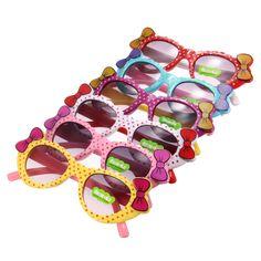 Sale 16% (2.49$) - Children Kids Colorful Bows Polka Dots Multi Shades Sunglasses