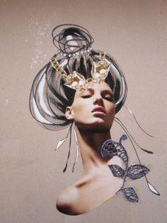 Attitude Updo by Dagrun Iris Sigmundsdottir #mixed_media #collage