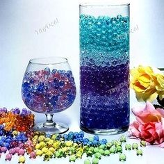 5000pcs Magic Nutrient Crystal Water Jelly Mud Soil Beads Balls with Bowl Lotus Seeds – Assorted Color TTH-331939