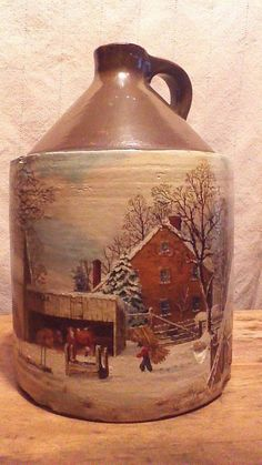 Antique Stoneware Jug Western Stoneware 2 Gallon Jug By