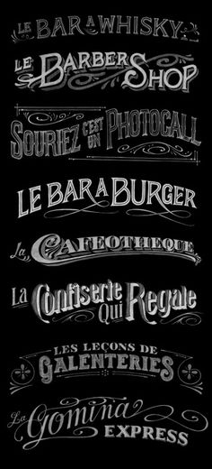 typography for le printemps