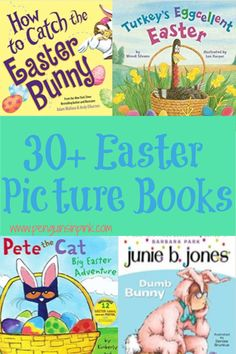 These 30  Easter Picture books are perfect for read-alouds and for beginning readers to practice reading. The books range from Baby/Toddler up to 4th grade level books. 4th Grade Level Books, Preschool Kindergarten, Toddler Preschool, Barbara Park, Leveled Books, Easter Pictures, Fancy Nancy, Little Critter, Picture Books